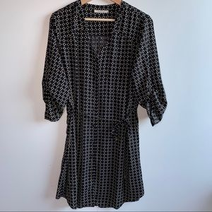 41 Hawthorn Dress Black/White Print Large